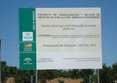 Proyecto de consolidación y mejora de riego en la CC. RR. Andévalo Fronterizo