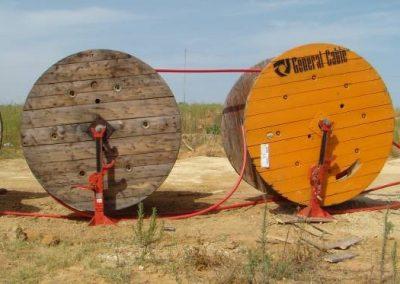 Proyecto de ejecución de línea eléctrica de media tensión para evacuación de electricidad procedente de planta de energía solar fotovoltaica en Lepe