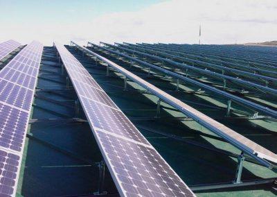 Proyecto de agrupación solar Valladares de 390 kw sobre cubierta de naves industriales de la ciudad de Córdoba