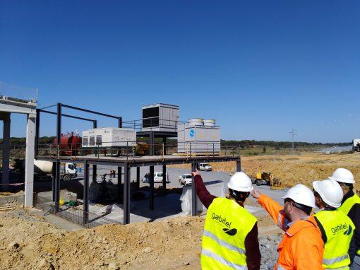 Sala de máquinas para equipamiento frigorífico en Central hortofrutícola en paraje Valdeoscuro, para S.C.A. Costa de Huelva