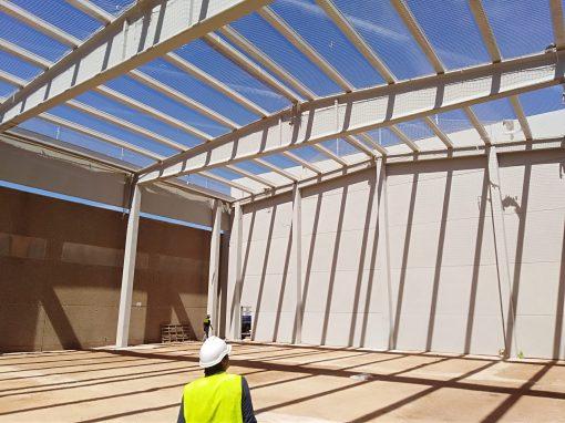 Construcción de nave-almacén de estructura prefabricada de hormigón, para Enartis SEPSA en Alcázar de San Juan (Ciudad Real)